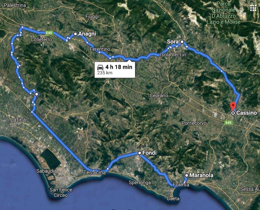 percorso cripte Lazio
